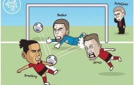 Biếm họa: Trọng tài ban ơn cho Sarri; De Gea không sợ kẻ địch mạnh...