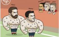 Biếm họa: Arsenal ngã, 3 kẻ vui; M.U đón ác mộng