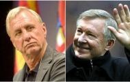 Johan Cruyff và Sir Alex: Hai 'chiếc bóng' bao trùm lên trận tứ kết Champions League