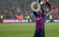 Vô địch La Liga, Messi gửi 'lời thách thức' đến huyền thoại Man Utd