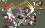 Biếm họa: Top 4 không chịu tiến; Messi bật chế độ 'Thanos đồ sát'