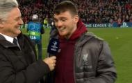 Robertson chế giễu Suarez sau khi Liverpool loại Barca