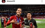 Sao trẻ Liverpool bị đàn anh dỗi vì chỉ chụp hình với Van Dijk
