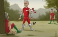 Biếm họa: Mourinho & Wenger 'lửa hận hoá yêu thương'; Xạ tiễn Ronaldo