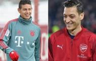 Nếu Arsenal phải chia tay Ozil, 'song James' sẽ là sự thay thế sáng giá
