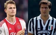 De Ligt vinh dự được so sánh với huyền thoại Juventus