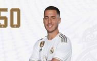 Eden Hazard khoác số áo cực lạ ra mắt Real
