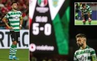 Đá trận cuối, Bruno Fernandes khóc nức nở khi Sporting thảm bại