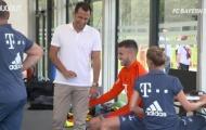 Video Lucas Hernandez nuốt trọn giáo án buổi tập đầu với Bayern