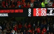Arsenal đã hứng chịu bao nhiêu cú sút ở trận thua 8-2 trước Man Utd?