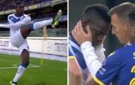 10 hình ảnh ấn tượng trên sân cỏ Serie A vào đêm qua: 'Cơn điên' của Balotelli