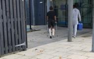 Phẫu thuật vừa xong, Andre Gomes đã vội trở lại Everton