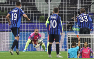 10 người, 1 thẻ đỏ; Man City hòa như thua trước Atalanta