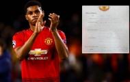 Lộ tài liệu 12 năm 'tự thú' gây choáng tại Man Utd của Rashford