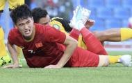 Tấn Sinh chấn thương, ai sẽ đá trung vệ cho U22 Việt Nam trận gặp Lào?