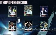 Đội hình tiêu biểu của Juventus trong thập kỷ qua: Bất ngờ với Ronaldo