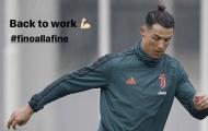 Ronaldo trở lại tập luyện, ngay lập tức gây ấn tượng vì 1 điều