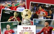 Văn Hậu, Hùng Dũng góp mặt trong top 5 đề cử QBV Việt Nam 2019
