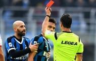 """""""Đối tác của Lukaku"""" bị phạt nặng, Inter Milan gặp khó trước Derby Milano"""