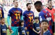 Trước trận đấu, sao Barca làm một điều khiến 'chuyên gia nằm cáng' cảm kích