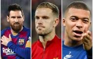 Ứng viên 'Player of the Year' ở 5 giải đấu hàng đầu: Messi và thủ lĩnh The Kop