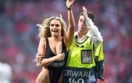 Mỹ nữ gây náo loạn chung kết Champions League gặp... tai nạn
