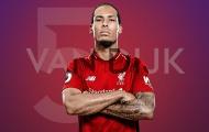 Vua chuyền bóng Châu Âu: Busquets hạng 5; 'Quái thú' Van Dijk