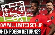 Pogba & Rashford trở lại, Man Utd vẫn dùng 3-5-2 để tối ưu đội hình?