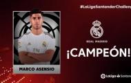 Bóng đá tạm hoãn, Asensio vẫn đem về vinh dự to lớn cho Real