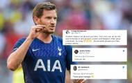 Vertonghen nhắn gửi 1 thông điệp, CĐV Tottenham 'phát cuồng', ủng hộ hết mình