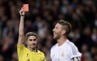Choáng váng với 8 cái tên nhận thẻ đỏ nhiều nhất La Liga: Hung thần Ramos