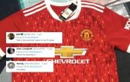 CĐV Man Utd: 'Mẫu áo xấu nhất từ 67 năm qua, tôi sẽ không bao giờ mua nó'