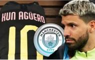 """Man City chú ý, 2 ông lớn nhăm nhe """"đánh cắp"""" Sergio Aguero"""
