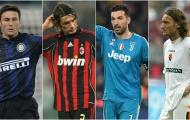 10 cầu thủ ra sân nhiều nhất ở Serie A: Chỉ có duy nhất 1 cầu thủ ngoại