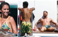 Vợ Messi khoe body quyến rũ bên cạnh gia đình nhỏ