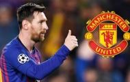 Rộ thông tin Man Utd xem xét chiêu mộ Lionel Messi