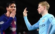 """De Bruyne: """"Tôi chẳng quan tâm Messi có đến hay không"""""""