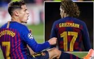 Lấy chiếc áo số 7 của Barca, Griezmann gửi thông điệp đến Coutinho