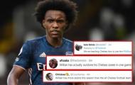 CĐV Arsenal: 'Chúng ta đang dạy cho Chelsea biết cách sử dụng Willian'