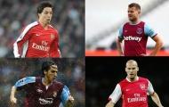13 cầu thủ từng khoác áo Arsenal và West Ham: Wilshere, Nasri và ai nữa?