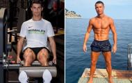 Choáng với cơ đùi khổng lồ của Ronaldo ở tuổi 35