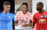 10 ngôi sao hưởng thu nhập cao nhất Premier League 2020/21: Liverpool vắng bóng