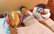 Ăn mừng danh hiệu V-League đầu tay, Quế Ngọc Hải 'học' theo Lewandowski
