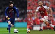 Wenger so sánh sao thất sủng của tuyển Anh với Messi