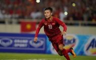 Quang Hải đeo băng đội trưởng U22 Việt Nam tại SEA Games 30