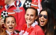 Chùm ảnh CĐV đội tuyển Áo thi thố sắc đẹp trên khán đài