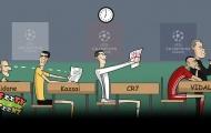 Biếm họa thí sinh Zidane thông minh, học giỏi, còn được nhắc bài
