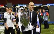 Chỉ trong 17 tháng Zidane đã sánh ngang Mourinho và Guardiola
