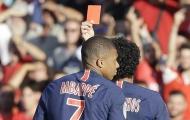 Mbappe nhận thẻ đỏ và gót chân Achilles của 'nhà vua'