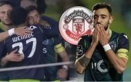 Fernandes ra dấu khi ghi bàn, ngày đến Old Trafford gần hơn bao giờ hết